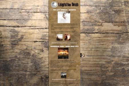 Encart Publicitaire pour LONGFELLOW RECORDS