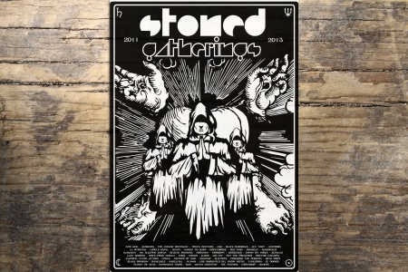 Lithographie 2 ans des STONED GATHERINGS