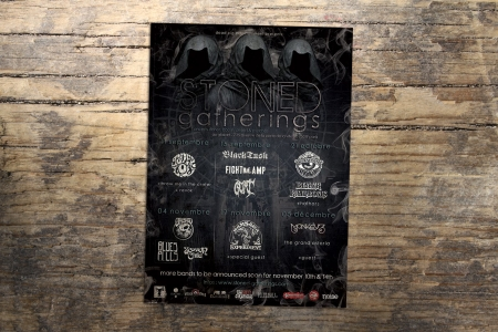 Flyer promotionnel pour les STONED GATHERINGS