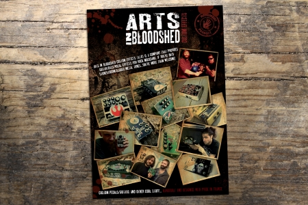 Flyer promotionnel pour ARTS IN BLOODSHED