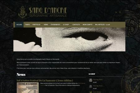 Site Web/Marchand pour SANG D'ANCRE